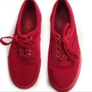 Vans Red Sneakers Size Us Men 6.5